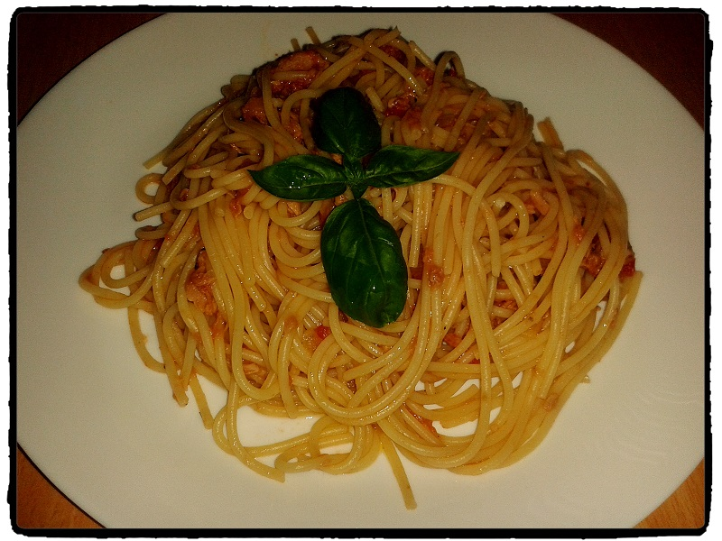 tuna, chilli, pasta, spagety