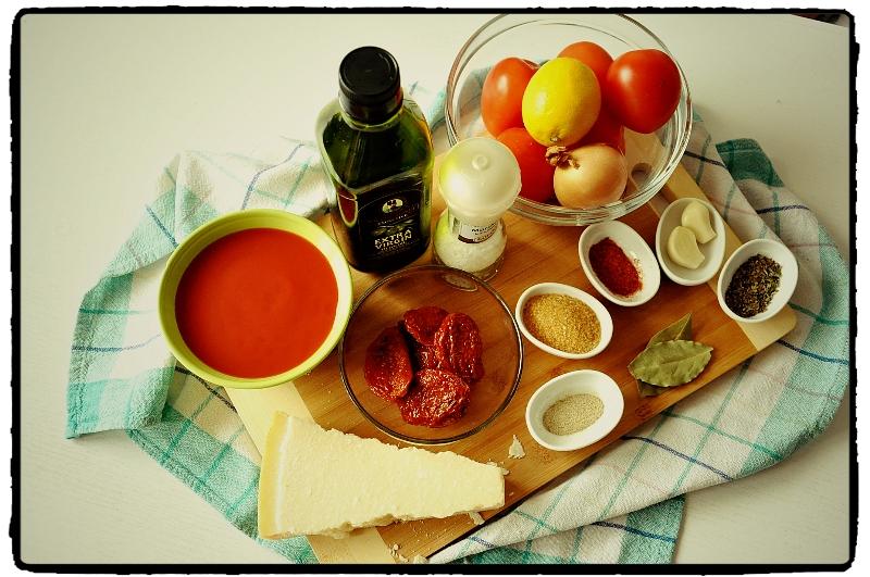 tomato, chilli, paradajky, poleivka, pretlak, sušené paradajky recept