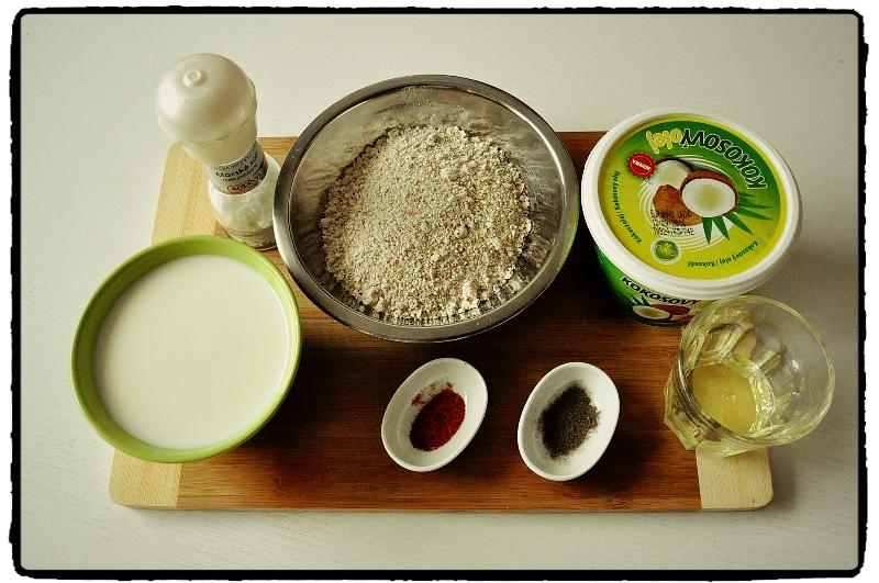 hrubá pšeničná múka, healthy pancakes, kokosový olej