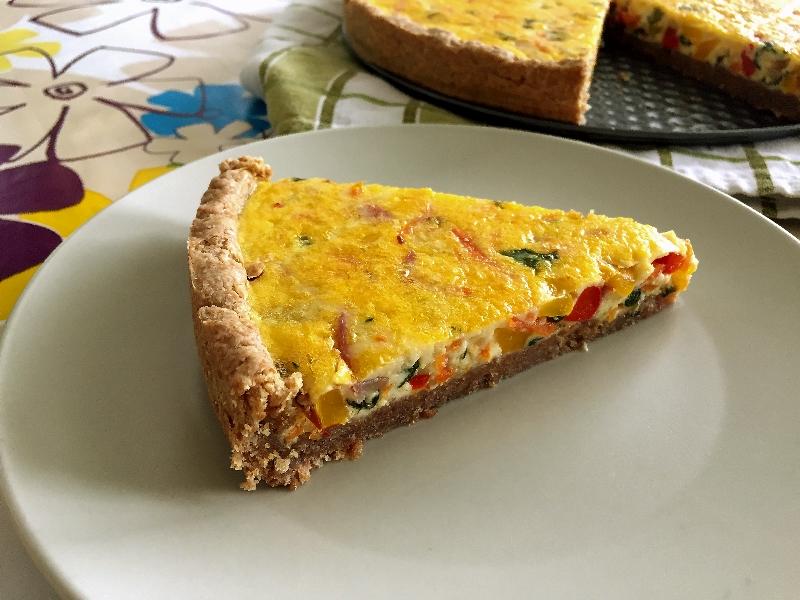 koláč, zelenina, vajcia, paprika, kajensské, french