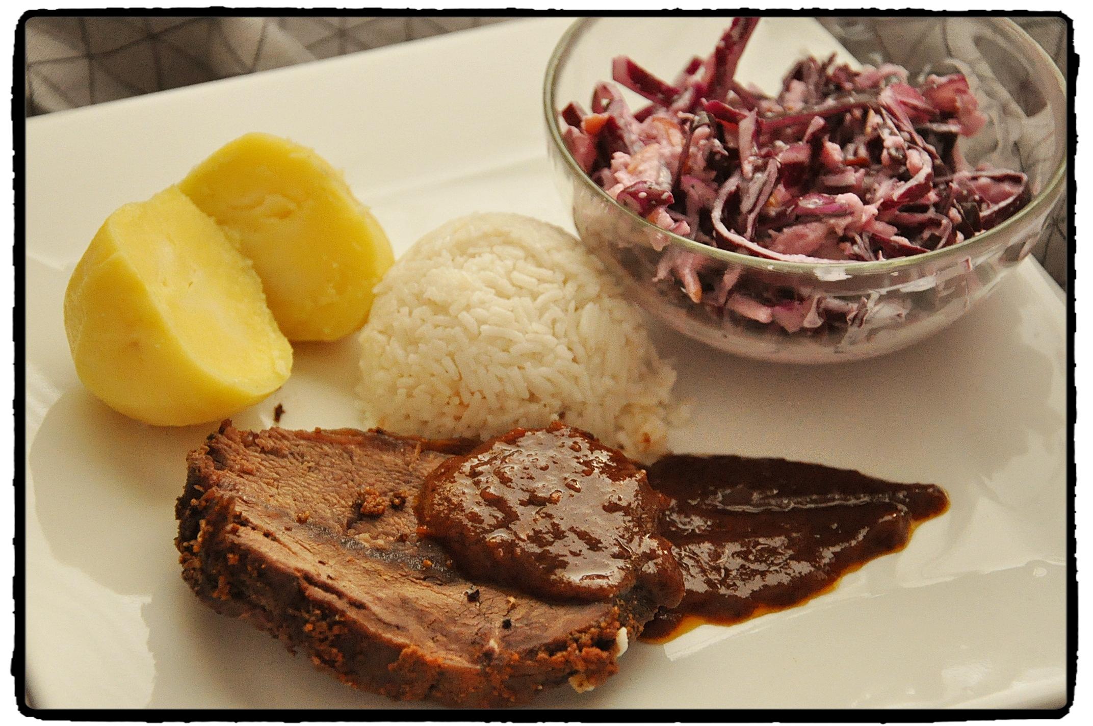 kapusta, mäso, ryža, zemiaky, šalát, chilli