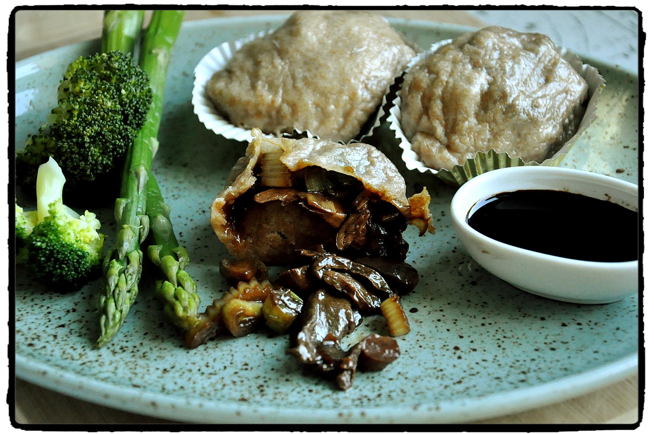 mushroom, asparagus, celorznné, hríby, sójová omáčka, soy sauce