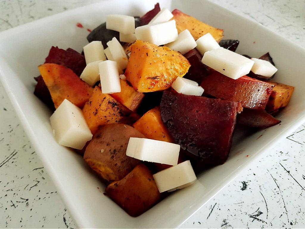 batáty, syr, gouda, chilli, vegetarian